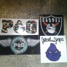 POG decals Planet of the grapes clothing ... .    Oakkland, california based company! Planet of The Grapes Other