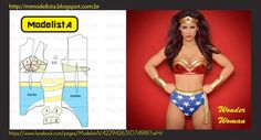Pattern for wonder woman custom Underwear Pattern, Lingerie Patterns, Sewing Lingerie, Clothing Patterns, Swimsuit Pattern, Bra Pattern, Dress Tutorials, Sewing Tutorials, Fashion Sewing