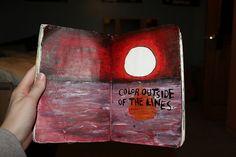 keri smith's 'wreck this journal'.  artist unknown...
