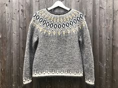 Ravelry: Project Gallery for Telja pattern by Jennifer Steingass Punto Fair Isle, Icelandic Sweaters, I Cord, Fair Isle Pattern, Knit In The Round, Fair Isle Knitting, Loose Sweater, Sweater Knitting Patterns, Pullover Sweaters