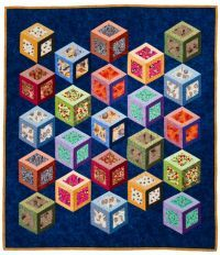 Think inside the box quilt by Cathy Wierzbicki. fun for novelty prints
