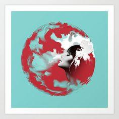 Voodoo Psychedelic Ink Woman Surf Art Print by voodoo - $18.72