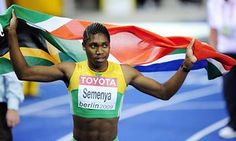 Caster Semenya of South Africa wins the 800m. at the World Athletics Championships in Berlin in 2019