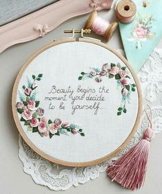 Wonderful Ribbon Embroidery Flowers by Hand Ideas. Enchanting Ribbon Embroidery Flowers by Hand Ideas. Brazilian Embroidery Stitches, Learn Embroidery, Hand Embroidery Stitches, Silk Ribbon Embroidery, Embroidery Hoop Art, Hand Embroidery Designs, Embroidery Techniques, Embroidery Letters, Butterfly Embroidery