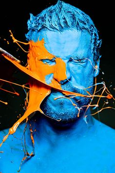 One colour (primary colour) being infected with another (non-primary colour) by Iain Crawford