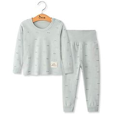 997419549dfcb DOTBUY Ensemble de Pyjama Bébé Enfants Filles Garçons Pyjamas Set 2 pièces  100% Coton Top