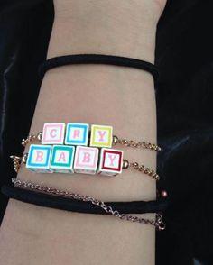 Oh, hey baby // Melanie Martinez Cry Baby Blocks Bracelet Set