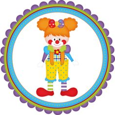 Yellowbackground - Minus Circus 1st Birthdays, Circus Birthday, 1st Birthday Parties, Le Clown, Circus Clown, Clown Images, Clown Crafts, Magnum Paleta, Vintage Circus Party