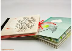 "Von ""britt design"": wunderschöne kleine Gutscheinhefte Bookbinding, Paper Crafts, Diy, Inspiration, Design, Notebooks, Paper Crafting, Gift Cards, Craft"