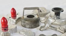 Instant Cookie Cutter Collection, set of 12 vintage/antique cookie & biscuit cutters