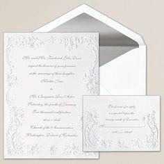 Victorian Roses Wedding Invitation | Floral Wedding Invitations