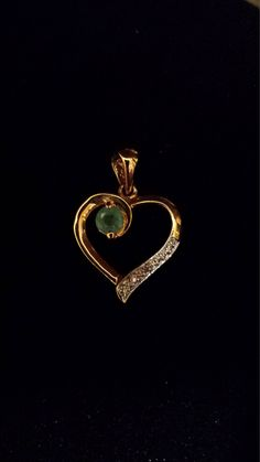 Sterling and Diamond Heart Pendant by 3LittleWitches on Etsy
