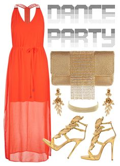 """""""Dance Party!"""" by gabygrach on Polyvore featuring City Chic, Whiting & Davis, Giuseppe Zanotti, Oscar de la Renta, Charlotte Russe, polyvoreeditorial, danceparty and polyvorecontest"""