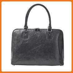 new product 1dcec b2230 Maxwell Scott® Luxury Ladies Black Leather Work Bag Purse for Macbook  (Fiorella) -