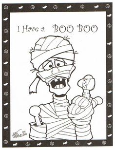 Coloring pages for you to enjoy for Halloween Free Halloween Coloring Pages, Fall Coloring Pages, Adult Coloring Pages, Coloring Pages For Kids, Coloring Books, Free Coloring, Theme Halloween, Fall Halloween, Halloween Crafts