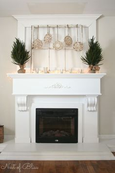 Winter Mantel - How to Decorate for Winter Mantel
