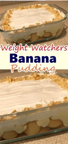 Banana Pudding recipe is simple to make at home. It takes less time as compared to other soups. Banana Pudding is considered a favorite by many of weight watchers members. This mild banana pudding isn't always Weight Watcher Desserts, Weight Watchers Snacks, Weight Watchers Smoothies, Weight Watchers Puddings, Weight Watchers Meal Plans, Weigh Watchers, Pudding Desserts, Ww Desserts, Healthy Dessert Recipes