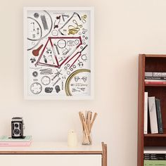 Anatomy Of A Bicycle Print by Magma | MONOQI