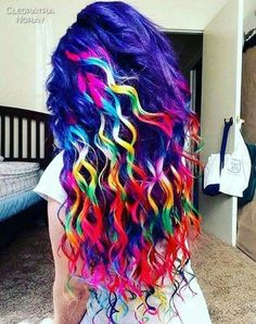 Cute Hair Colors, Pretty Hair Color, Beautiful Hair Color, Hair Dye Colors, Wild Hair Colors, Rainbow Hair Colors, Funky Hairstyles, Pretty Hairstyles, Blonde Hairstyles