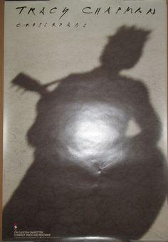 TRACY CHAPMAN Crossroads, Elektra promotional poster, 1989, 20x30, EX