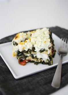 Spinach Feta lasagna by AMM blog, via Flickr