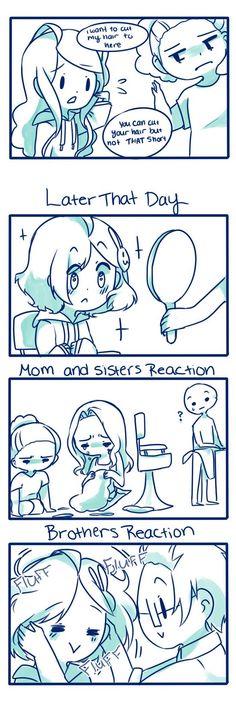 Drawing Comics Anti-Social Media :: Little hair Stupid Funny, Funny Cute, Funny Jokes, Hilarious, Mom Funny, Comic Manga, Anime Comics, Rage Comic, Funny Comic Strips