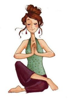 Woman Yoga drawing #yogaart #yogaashtanga