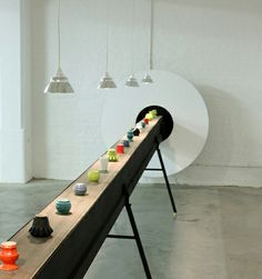 Designers Bodil Suderland and Charlie Davidson F4-series, a 10-metre long moving conveyor belt transporting glazed stoneware components, was voted one of the best products at London Design Festival 2013 in partnership with CultureLabel.com. #discovercraft