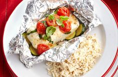 WW Fish Papillote – Main Course and Recipe – Blackhead Rice Recipes, Meat Recipes, Healthy Recipes, Healthy Eating Tips, Healthy Nutrition, Healthy Food, Fisher, Plats Weight Watchers, Foil Pack Meals