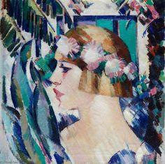 Villa Gotte Garden by John Duncan Fergusson (1874-1961, United Kingdom) - Thx WahooArt