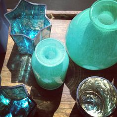 Turquoise objects on view, gift shop, Albuquerque Museum of Art & History