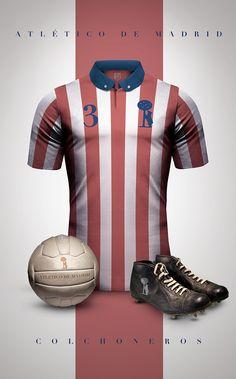 Atlético de Madrid estilo vintage