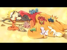 Naruto and the nine tails chibi form