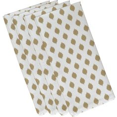 We love the ikat design of this cotton napkin. | $60 for a set of four