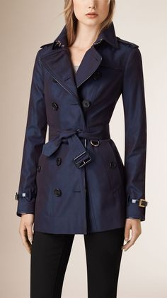 Patent Detail Cotton Gabardine Trench Coat | Burberry