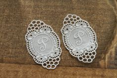 Supply Vintage monogram embroidery V by Yebisu on Etsy Vintage Monogram, Crochet Earrings, Embroidery, Trending Outfits, Unique Jewelry, Handmade Gifts, Lace, Etsy, Monogram