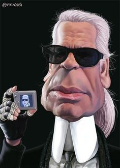 KARL LAGERFELD CARICATURES-                                                                                                                                                                                 Plus