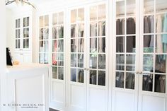 Glass Front Closet Doors, Transitional, closet, M. E. Beck Design