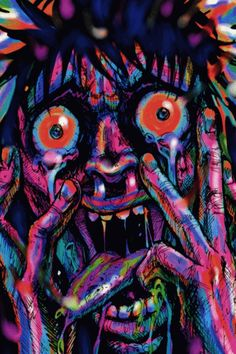 Bad Trip colorful animated gif psychedelic trip