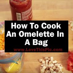 Learn how to easily make a delicious omelet in minutes. The best part is there's not even a pan to wash when you're done!