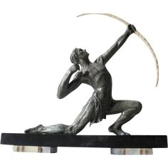 Terrific Original 1920s French Art Deco Male Archer Sculpture