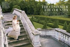 VOGUE MAGAZINE The Custom of The Country by Annie Leibovitz. Grace Coddington, September 2012