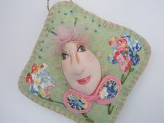 Lime SpringOOAK Art Doll Ornament for by MountainDolls on Etsy, $15.00
