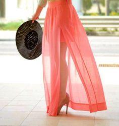 Beautiful coral skirt