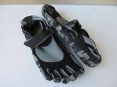 d07965ceb235 MENS VIBRAM FIVEFINGERS KSO BLACK GRAY CAMO TRAIL RUNNER SHOE EUR 44 M1485  | eBay