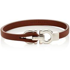 Salvatore Ferragamo Men's Leather Bracelet (11,570 DOP) ❤ liked on Polyvore featuring men's fashion, men's jewelry, men's bracelets, brown, mens leather bracelets, mens bracelets and mens watches jewelry