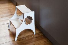 Wooden Kids Step Stool. Birch Plywood Stool With Five Leaf Clover Ornament…