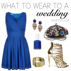 What to wear to a spring wedding   kyssmystyle.com   Click the photo for outfit details!