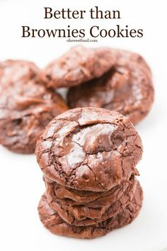 Can't decide between brownies or cookies? Try these better than brownies cookies! ohsweetbasil.com