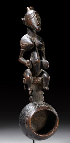 Africa | Spoon from the Senufo people of the Ivory Coast | Wood